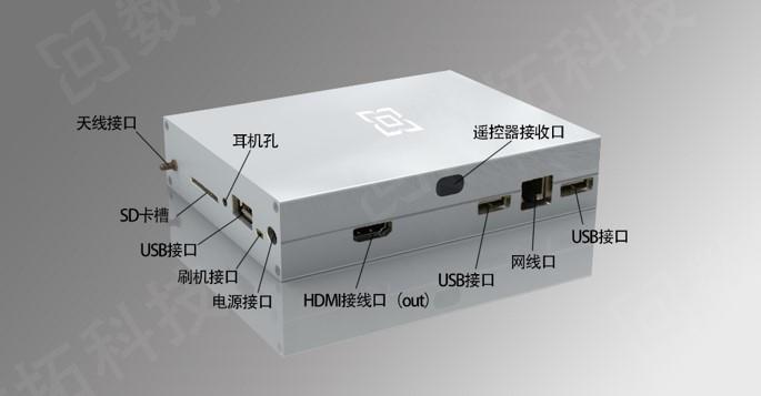数拓盒子_智能网络播放器—背面图